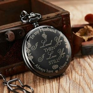 "New Husband ""I Love you"" Pocket Watch"